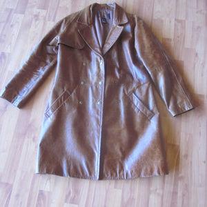 Victorias Secret Distressed Leather Jacket